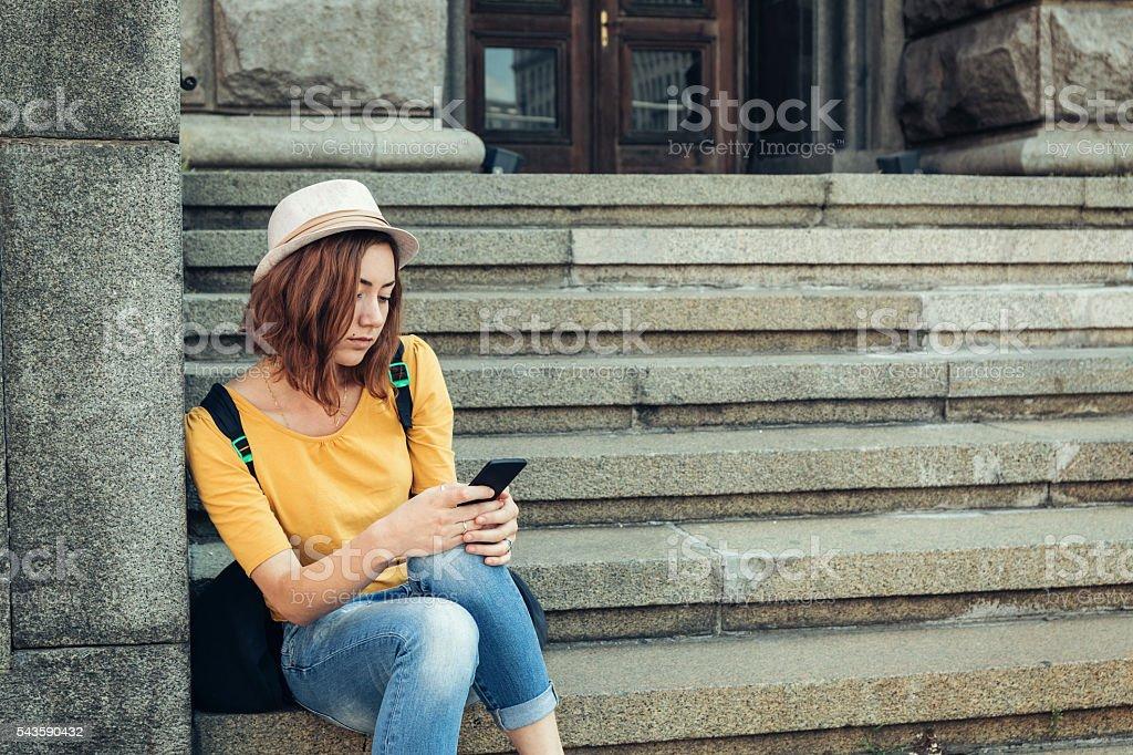 Cell phone break up stock photo