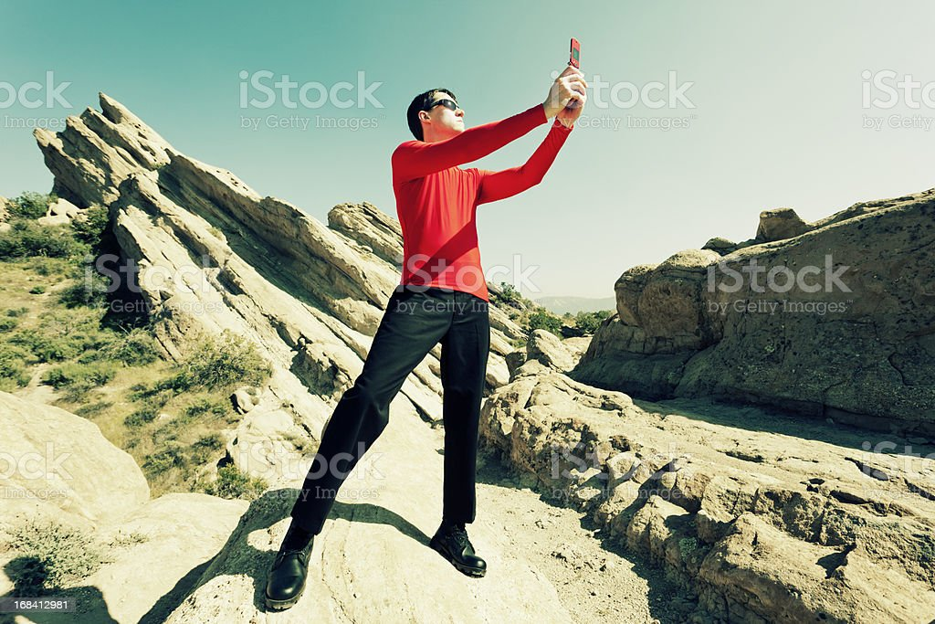 Cell Phone Communication stock photo