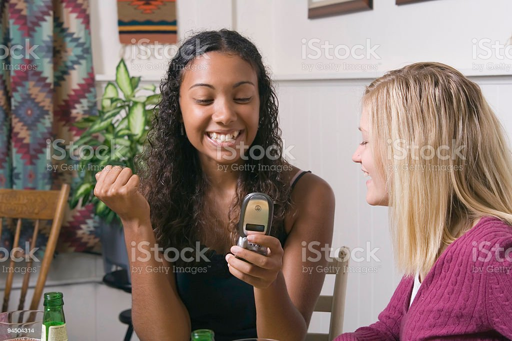 Cell Phone Excitement stock photo