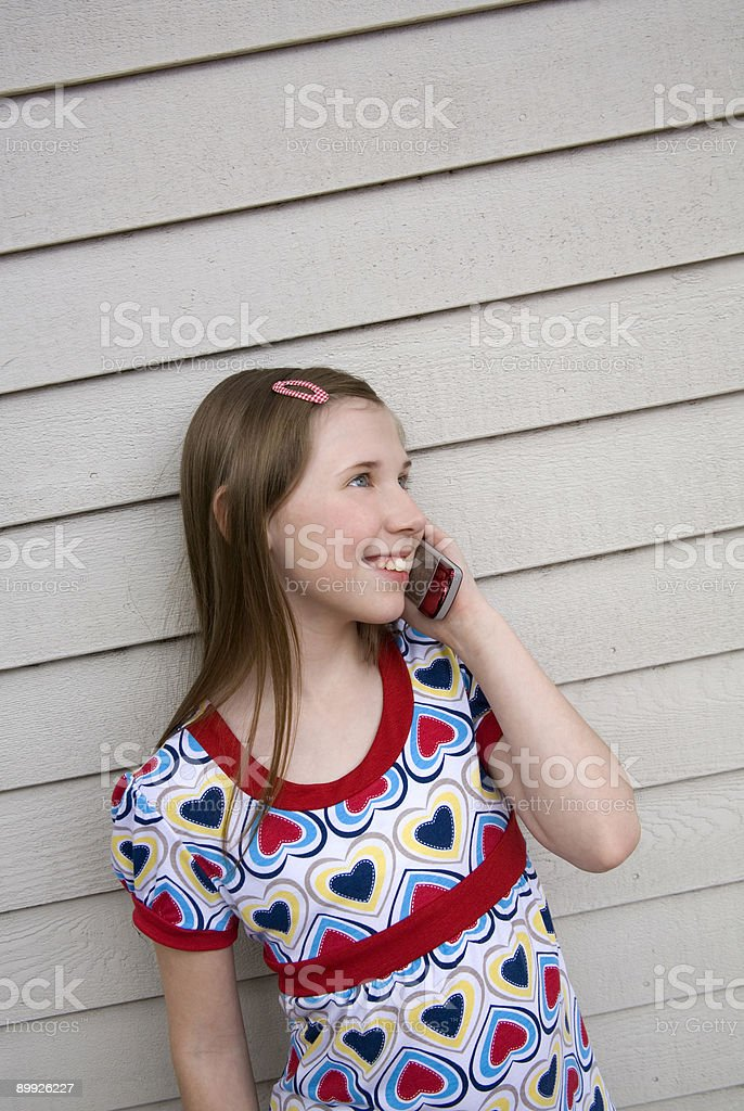 Cell Phone Girl 2 royalty-free stock photo