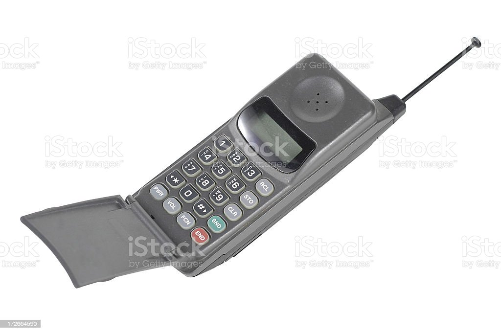 Cell Phone History (clipping path) stock photo
