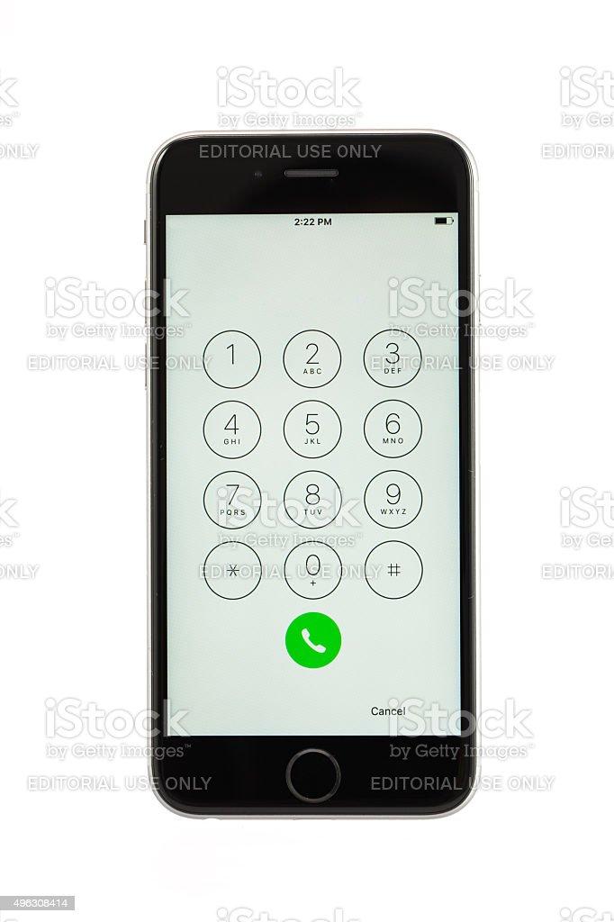 Varna, Bulgaria - October 31, 2015: Cell phone Iphone 6s stock photo