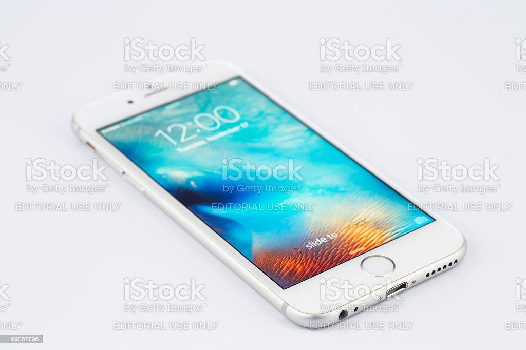 Varna, Bulgaria - November 17, 2015: Cell phone Iphone 6s stock photo