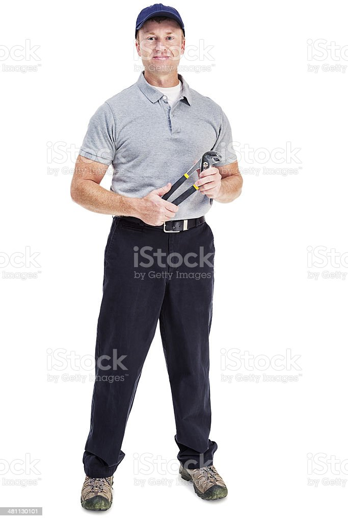 Handy Man stock photo