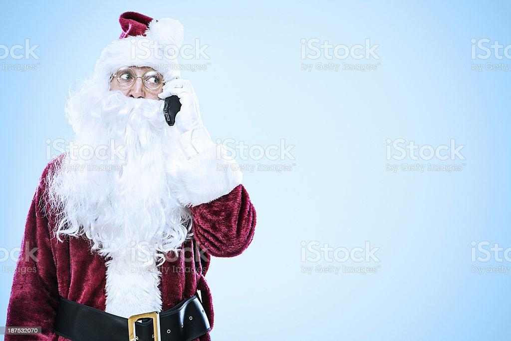 Cell Phone Santa Claus stock photo