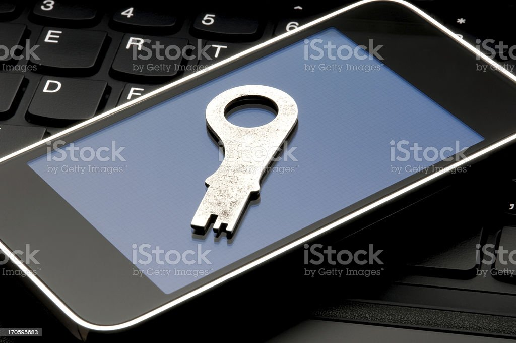 Cell Phone Security Concept royalty-free stock photo