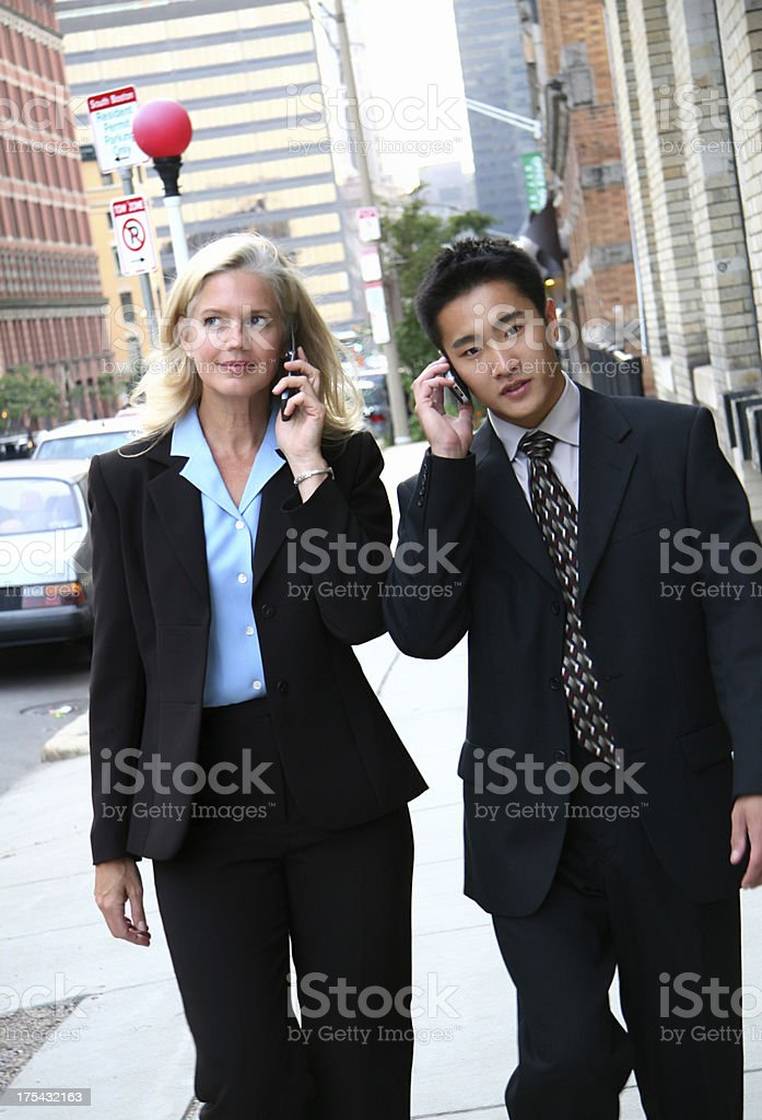 Cell Phone Sidewalk royalty-free stock photo
