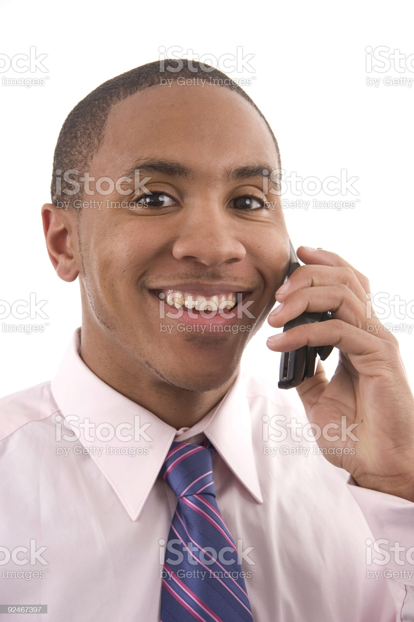 Cell Phone Smile 3 royalty-free stock photo