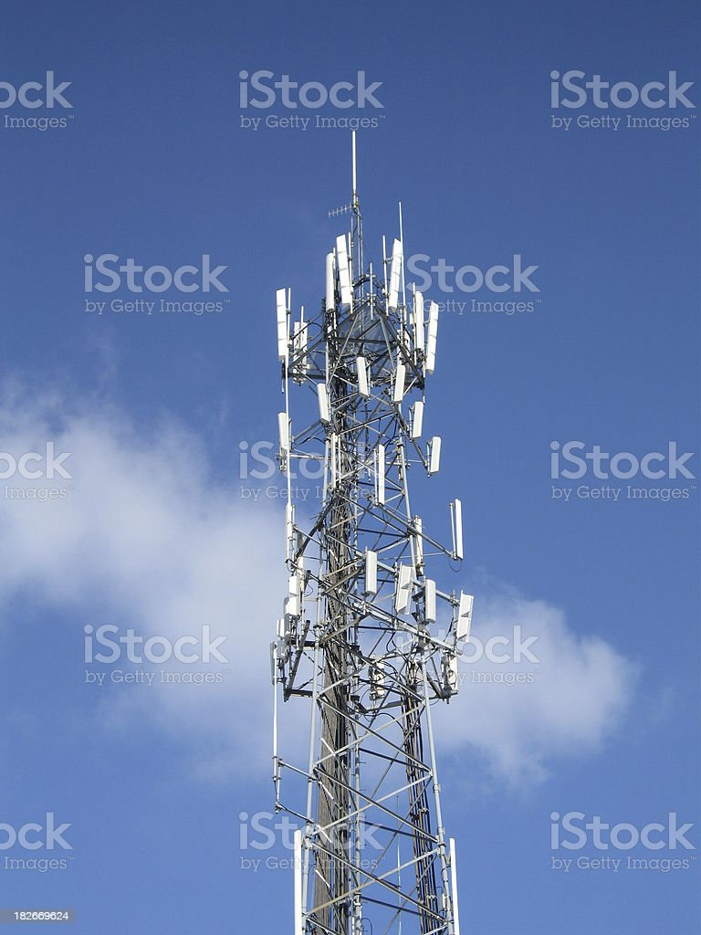 Cell phone tower royalty-free stock photo