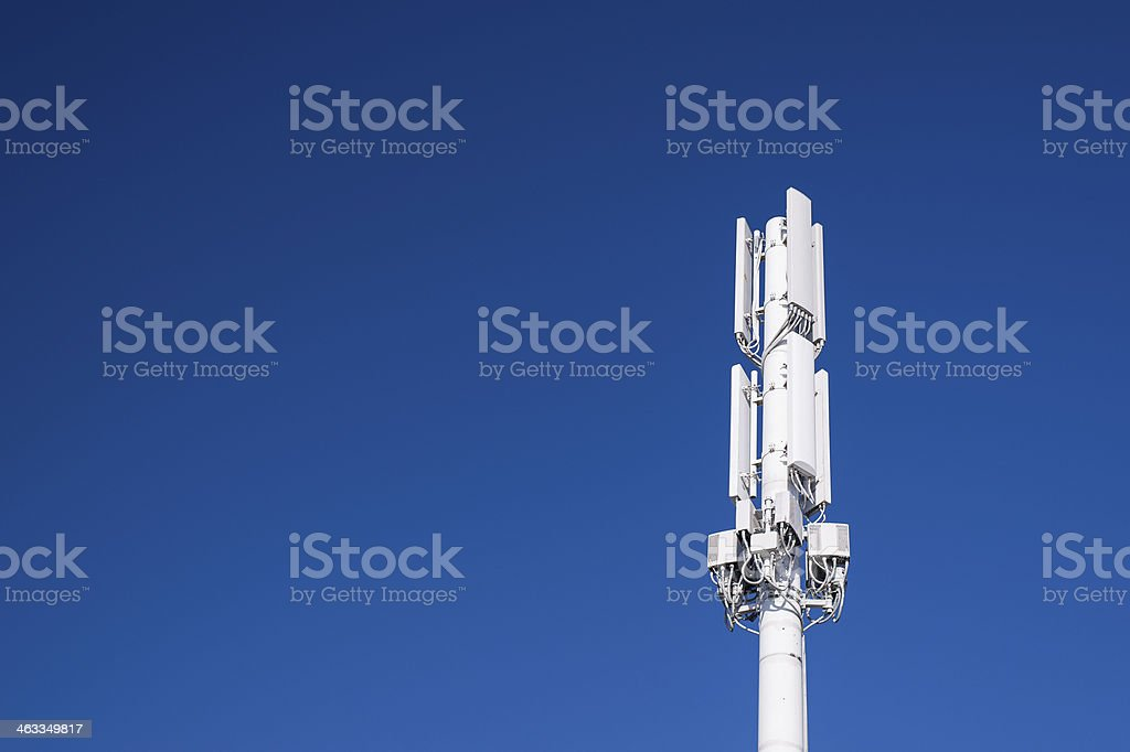 Cell phone tower stock photo