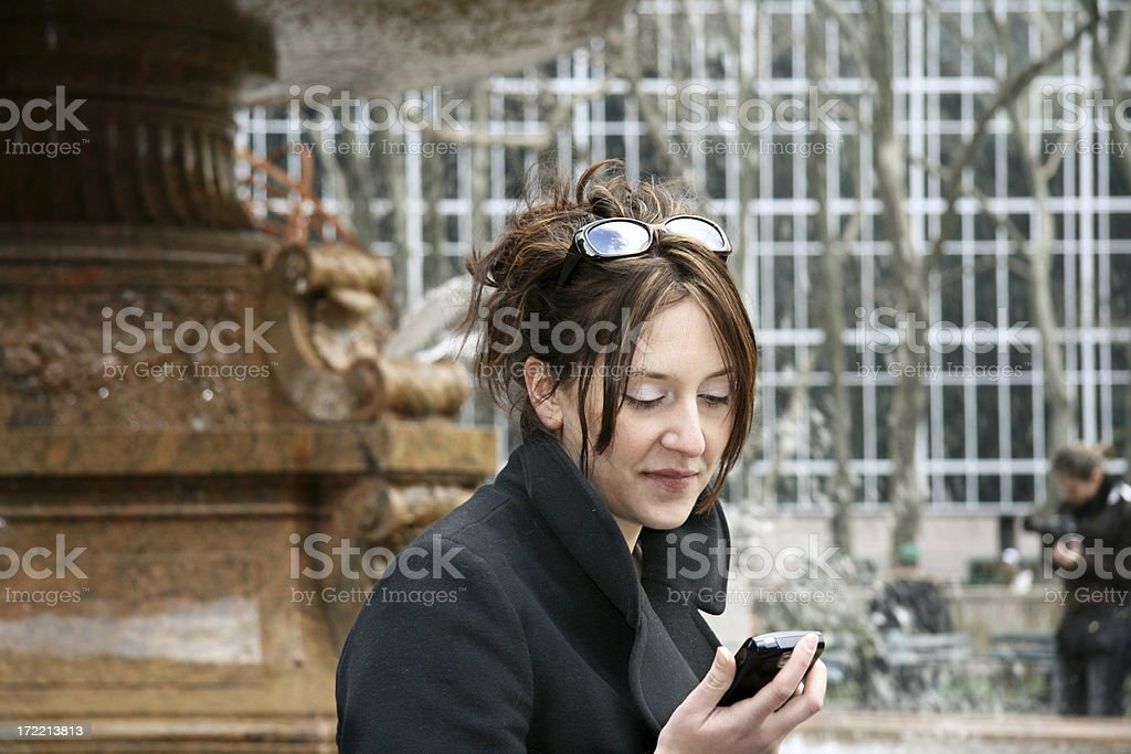 Cell Phone Woman royalty-free stock photo