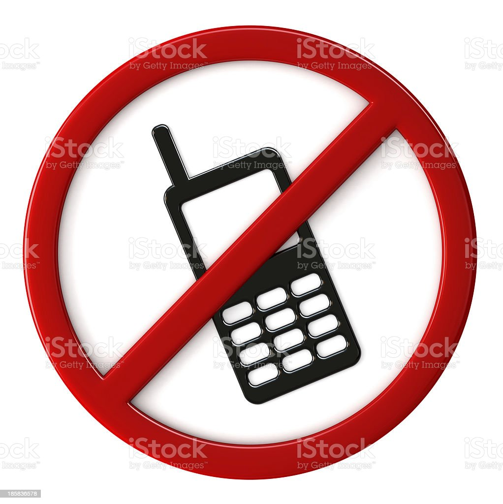 Cell phones not allowed stock photo