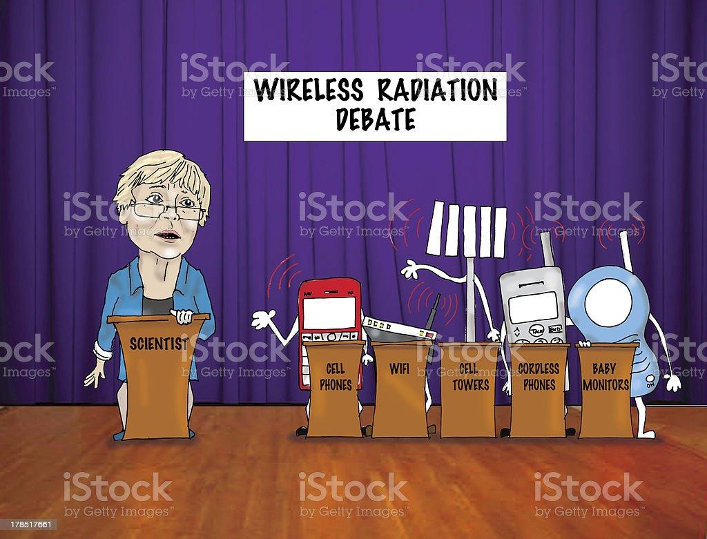 Cell Phone/WiFi Radiation Dangers Debate stock photo