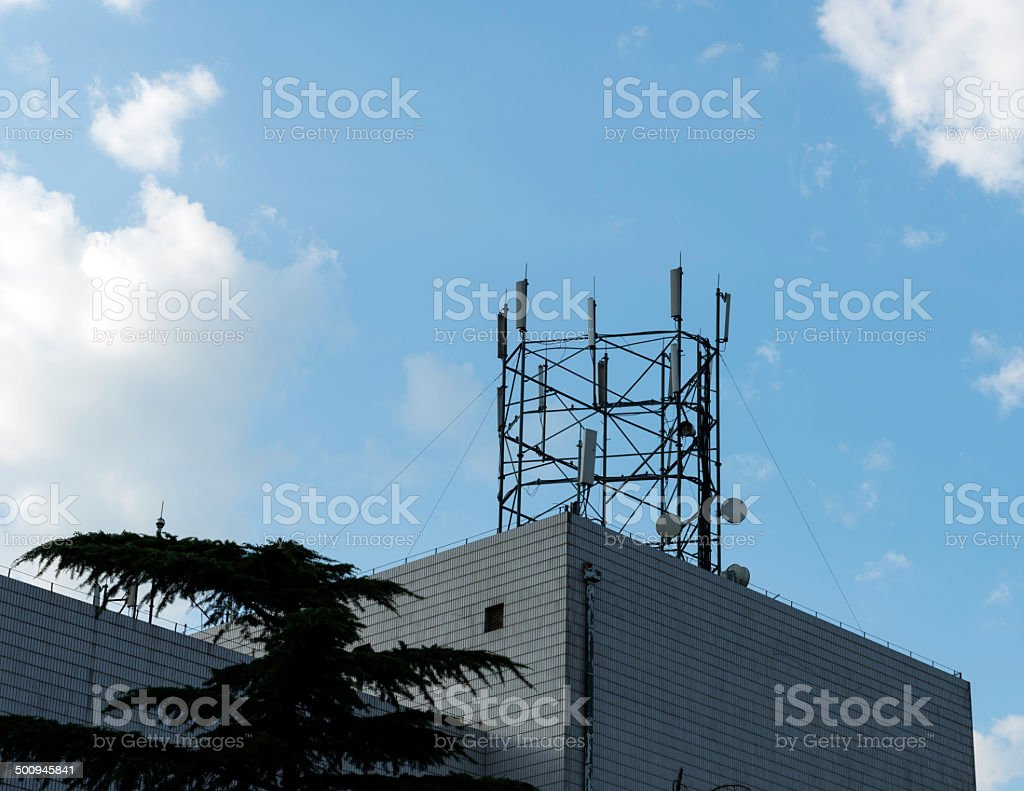 Cell tower Communications stock photo