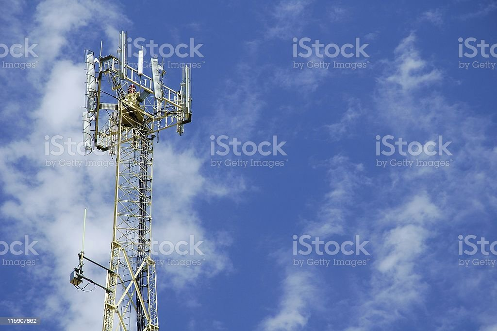 Cell Tower Top royalty-free stock photo