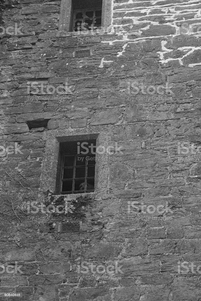Cell window - Black & White stock photo