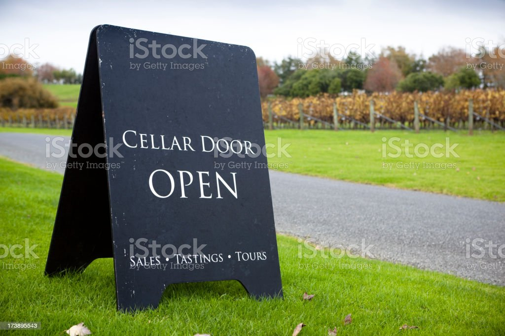 Cellar Door Open royalty-free stock photo