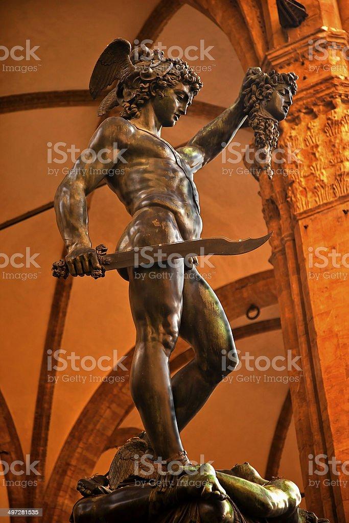 Cellini Perseus Statue Palazzo Vecchio Florence Italy royalty-free stock photo