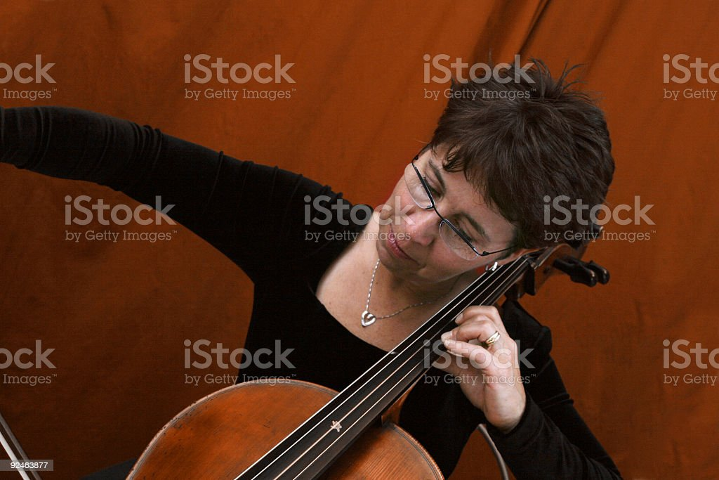 Cellist Form royalty-free stock photo