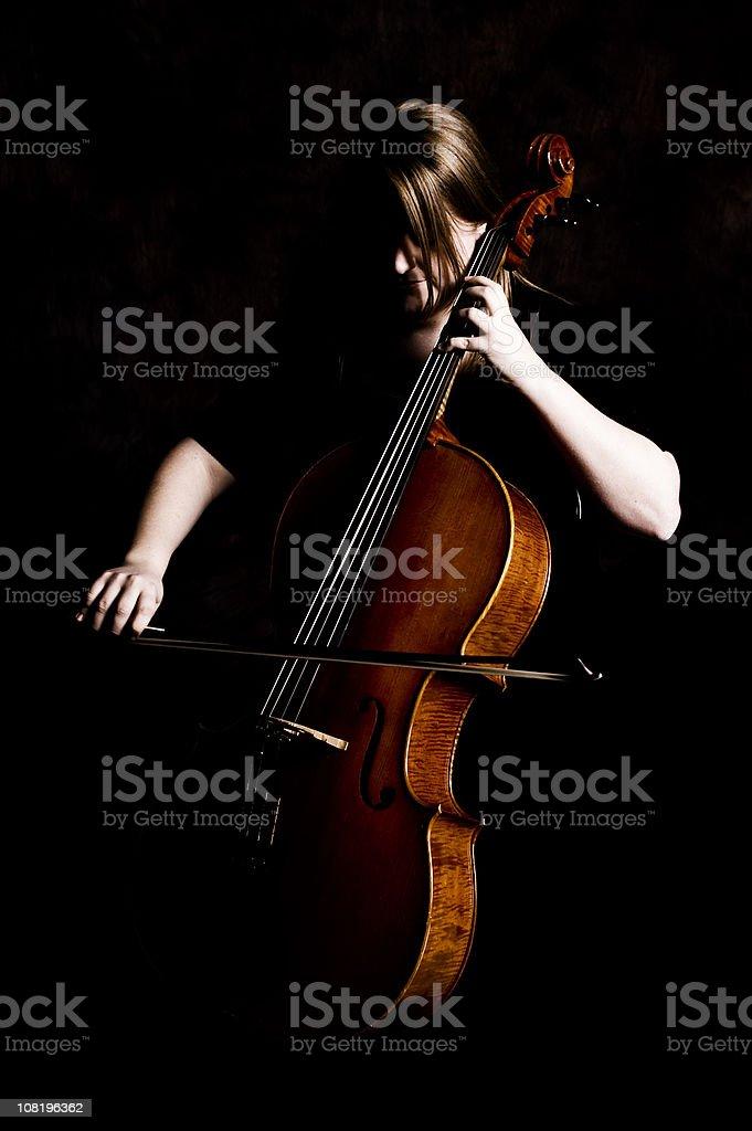 cellist royalty-free stock photo
