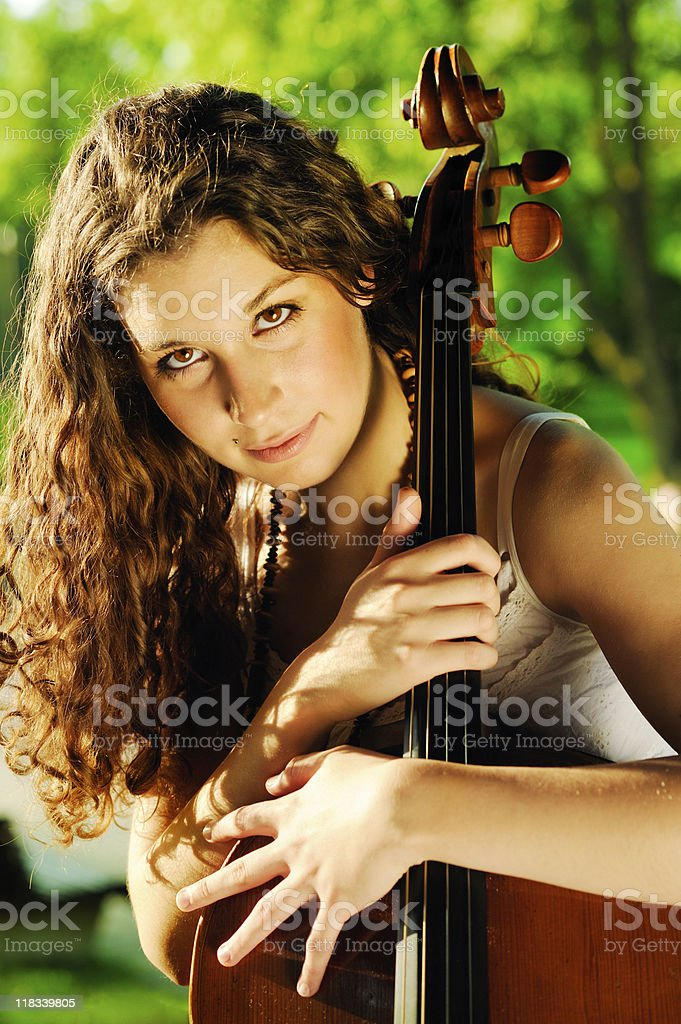 cellist royalty-free stock photo