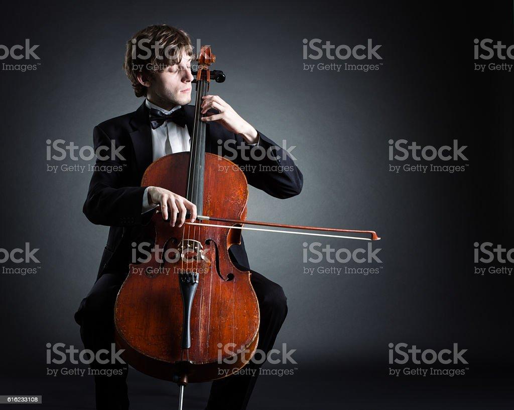 Cellist stock photo