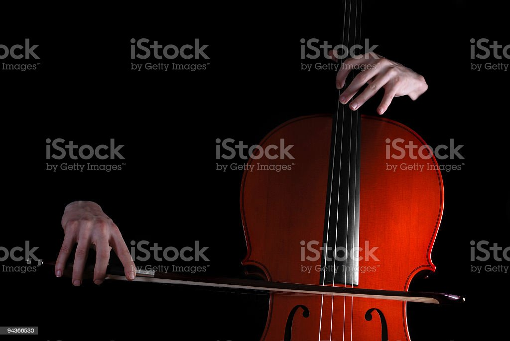 Cellist stock photo
