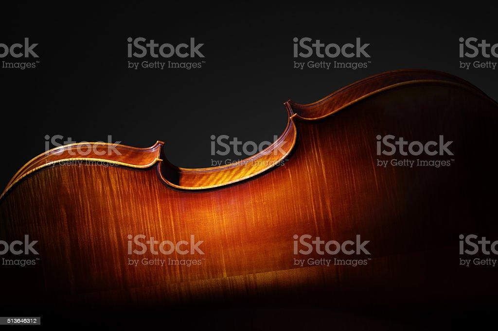 Cello back silhouette stock photo