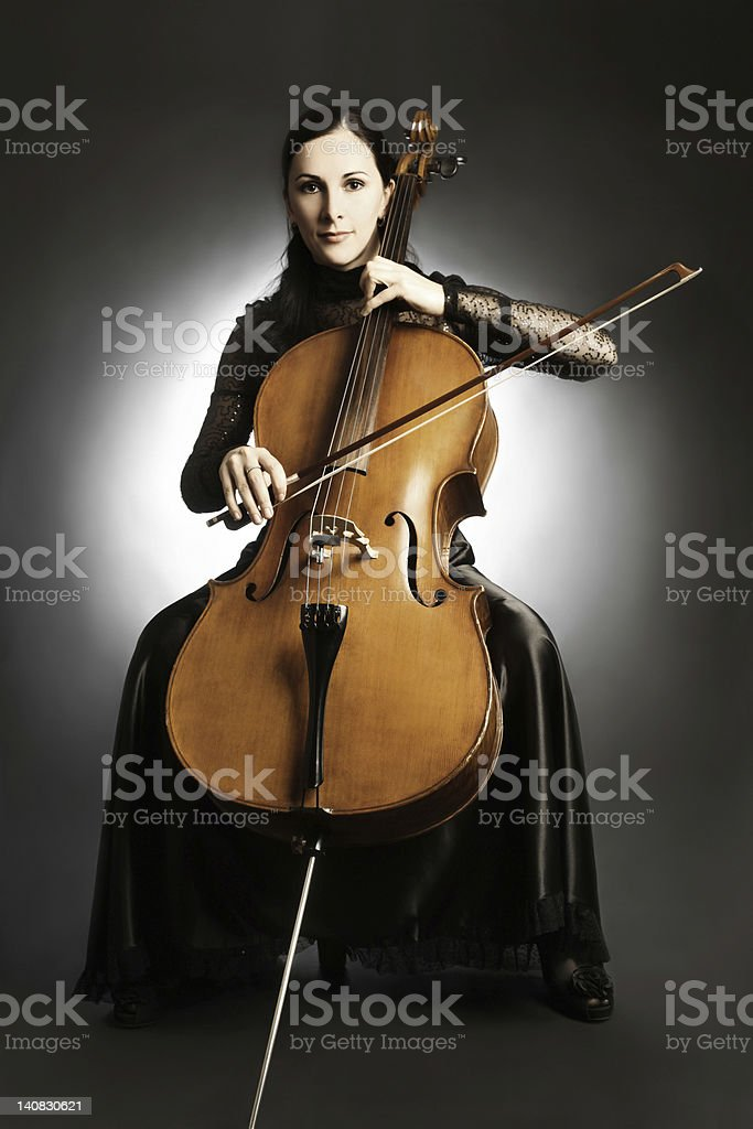 Cello classical musician cellist. stock photo