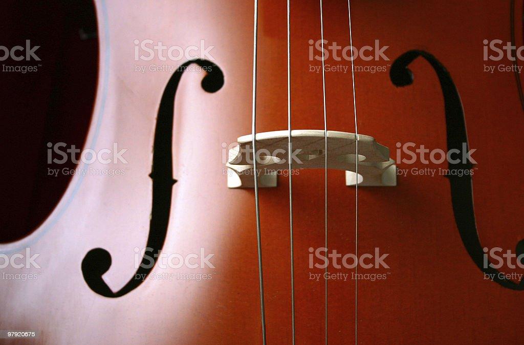 Cello detail royalty-free stock photo