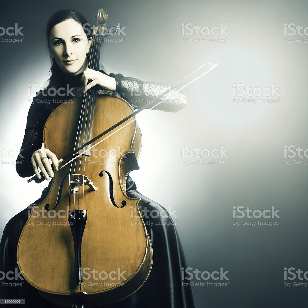 Cello musical instrument musician cellist playing stock photo