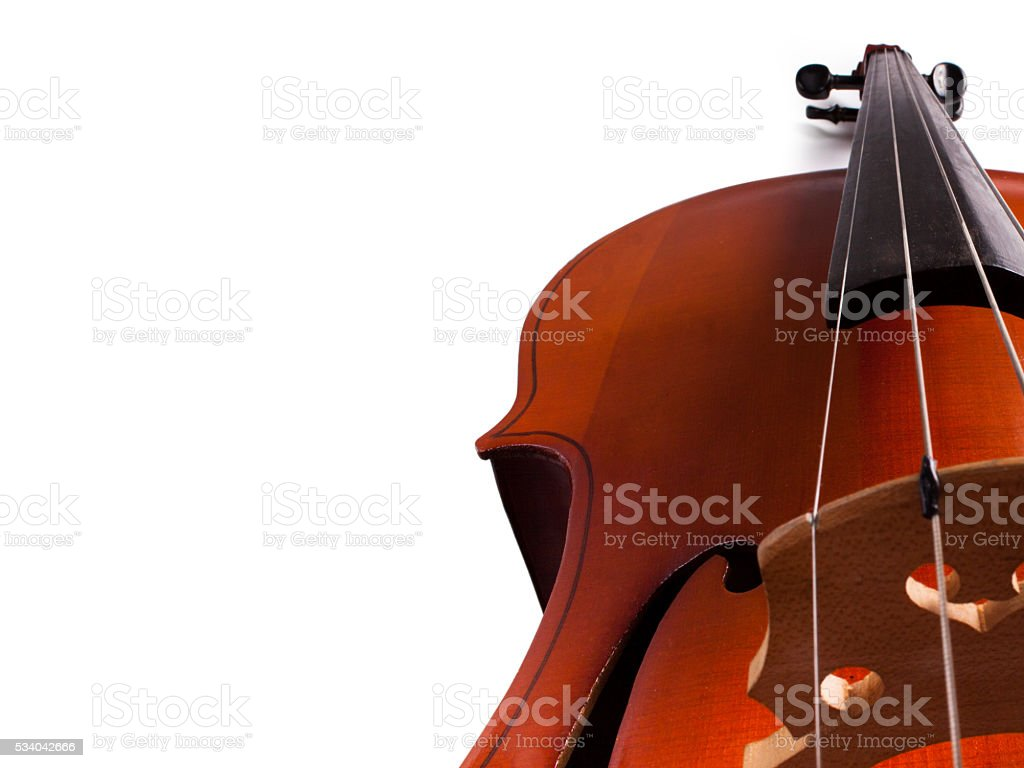 Cello on a white background. stock photo