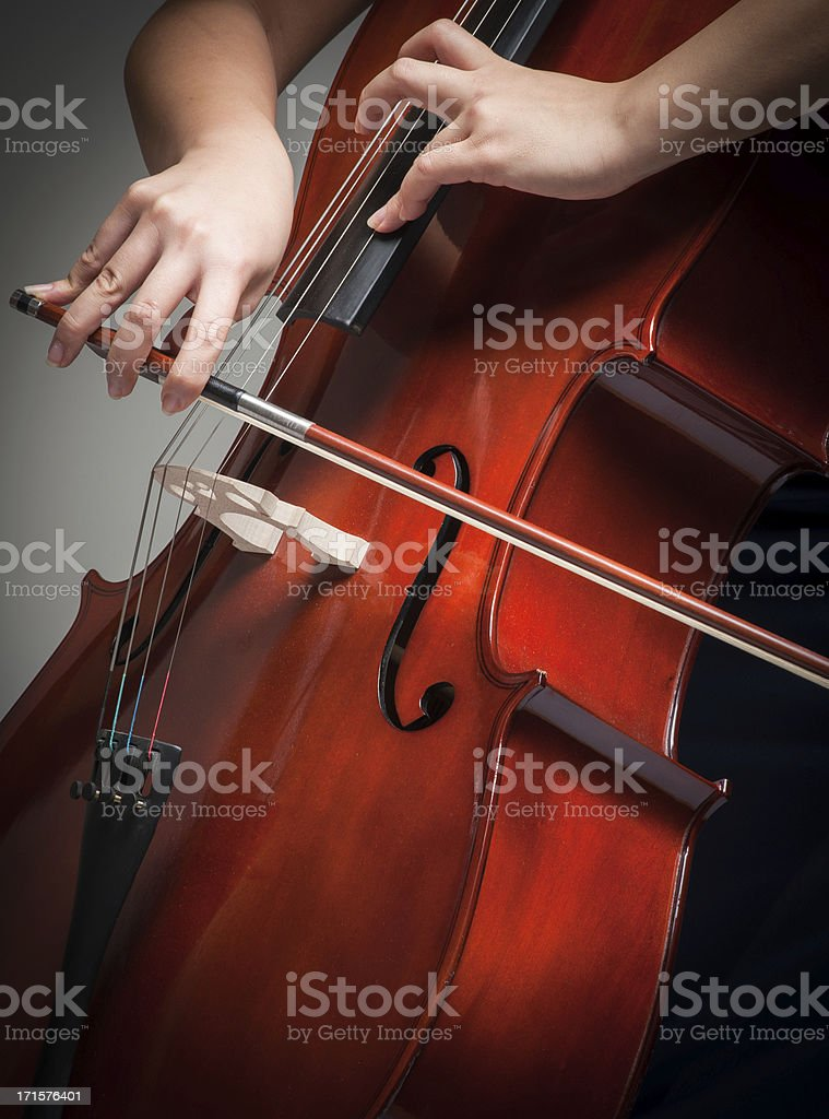 Cello Playing royalty-free stock photo