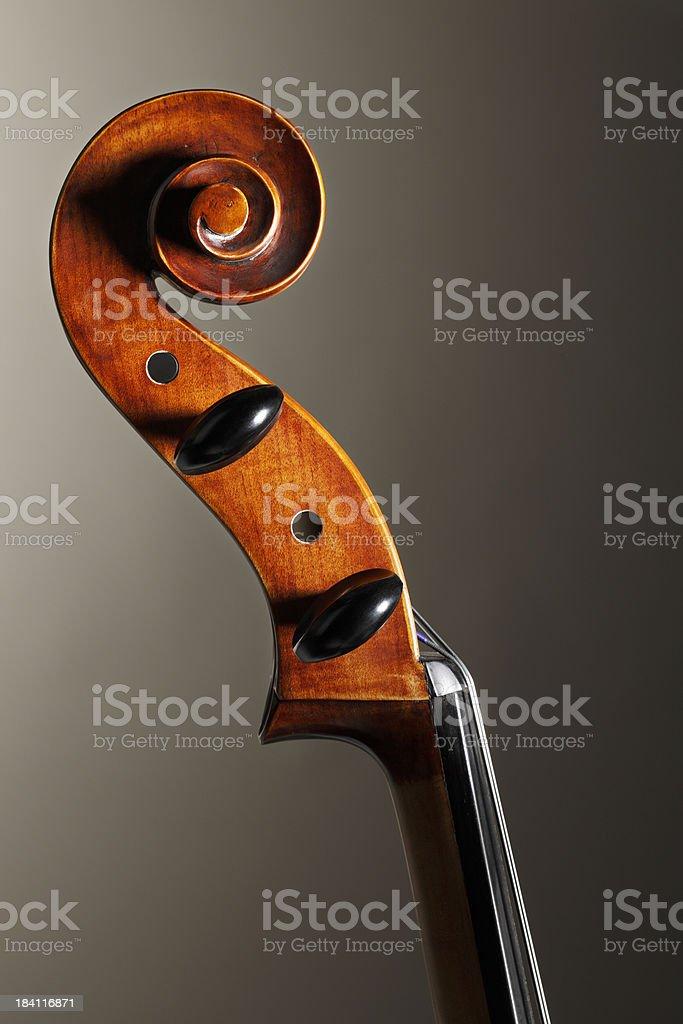 Cello Scroll royalty-free stock photo