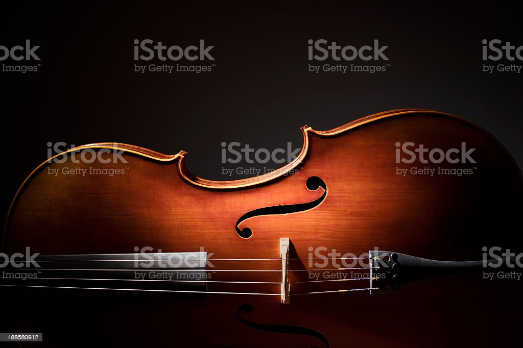 Cello silhouette stock photo