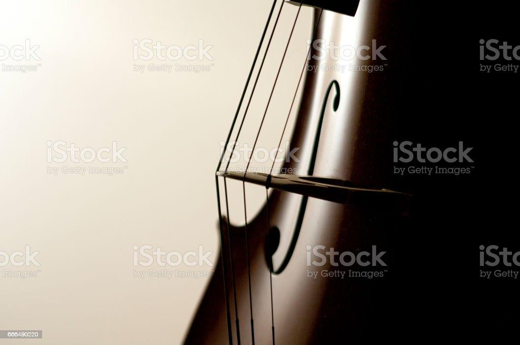 Cello strings stock photo