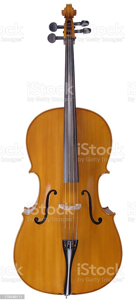Cello with path royalty-free stock photo