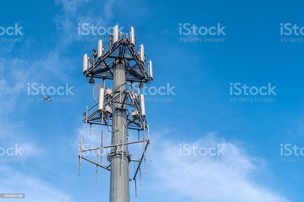 Cellphone antenna stock photo