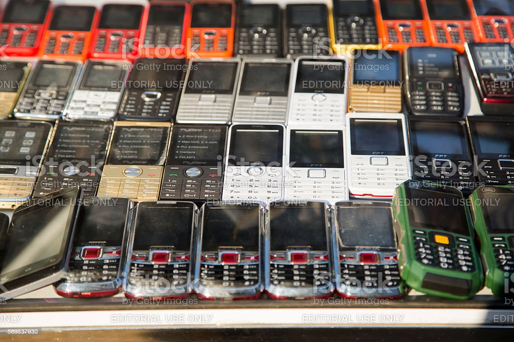 Cellphone is for sale stock photo