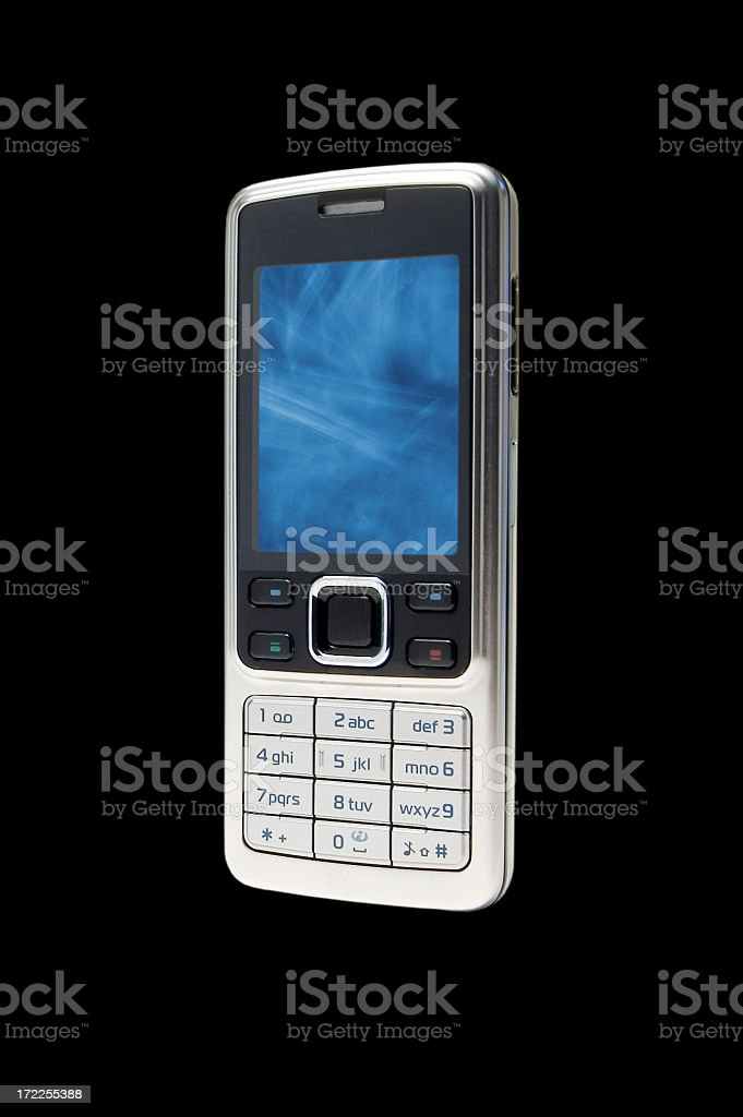 Cellphone on black royalty-free stock photo