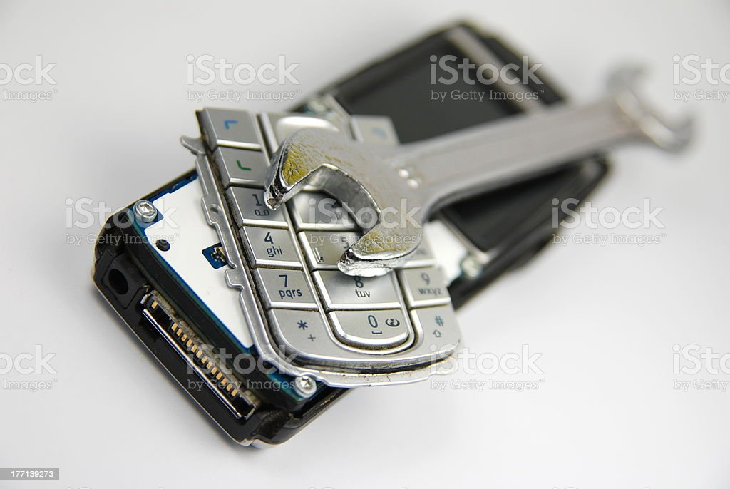Cellphone service royalty-free stock photo