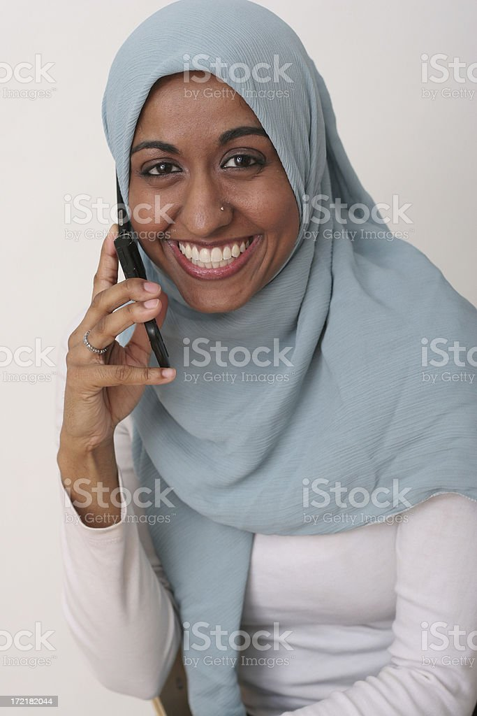 Cellphone talk stock photo