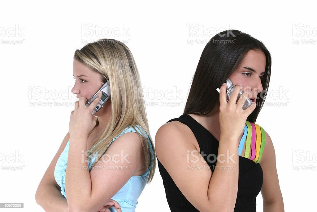Cellphones and Teens royalty-free stock photo