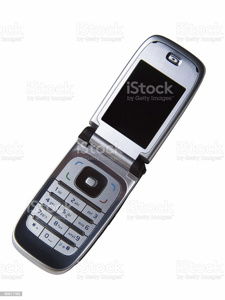 Cellular Phone with clipping path stock photo