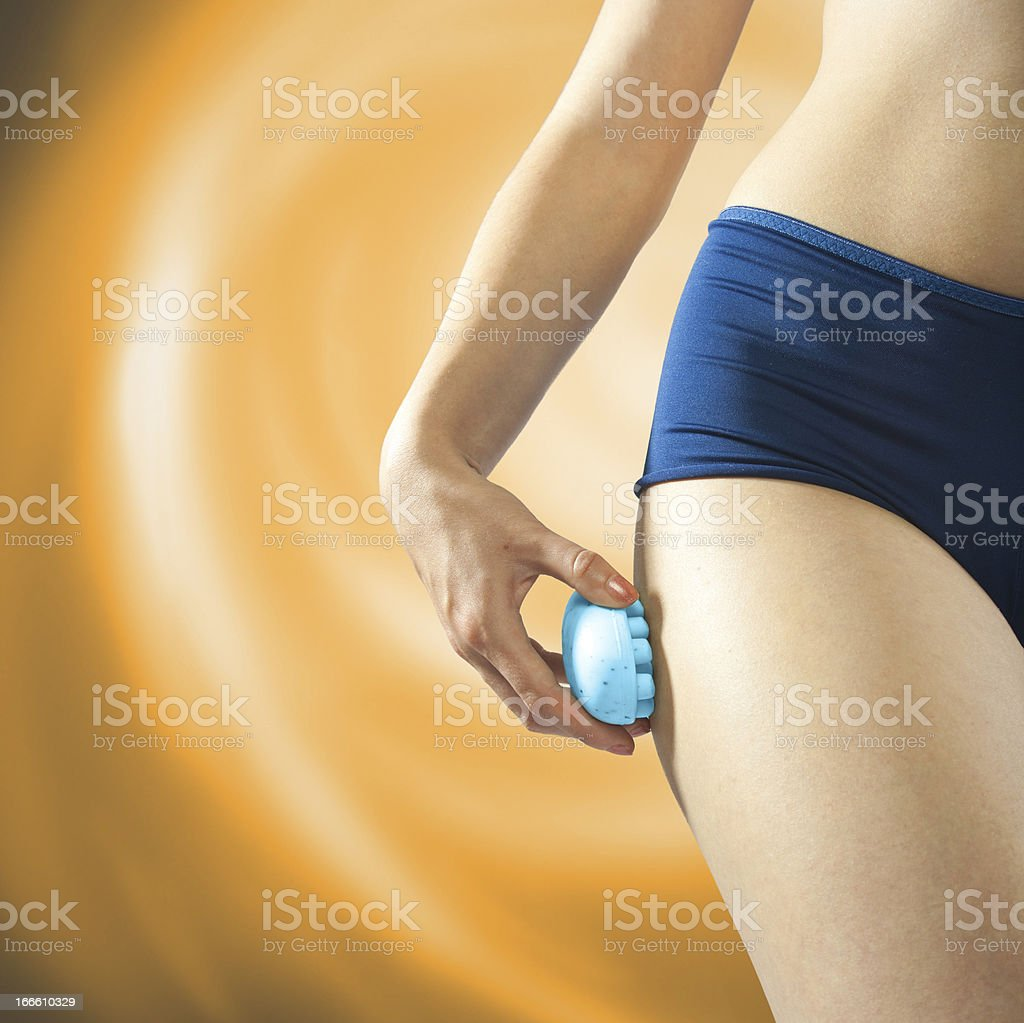 Cellulite soap four massage stock photo