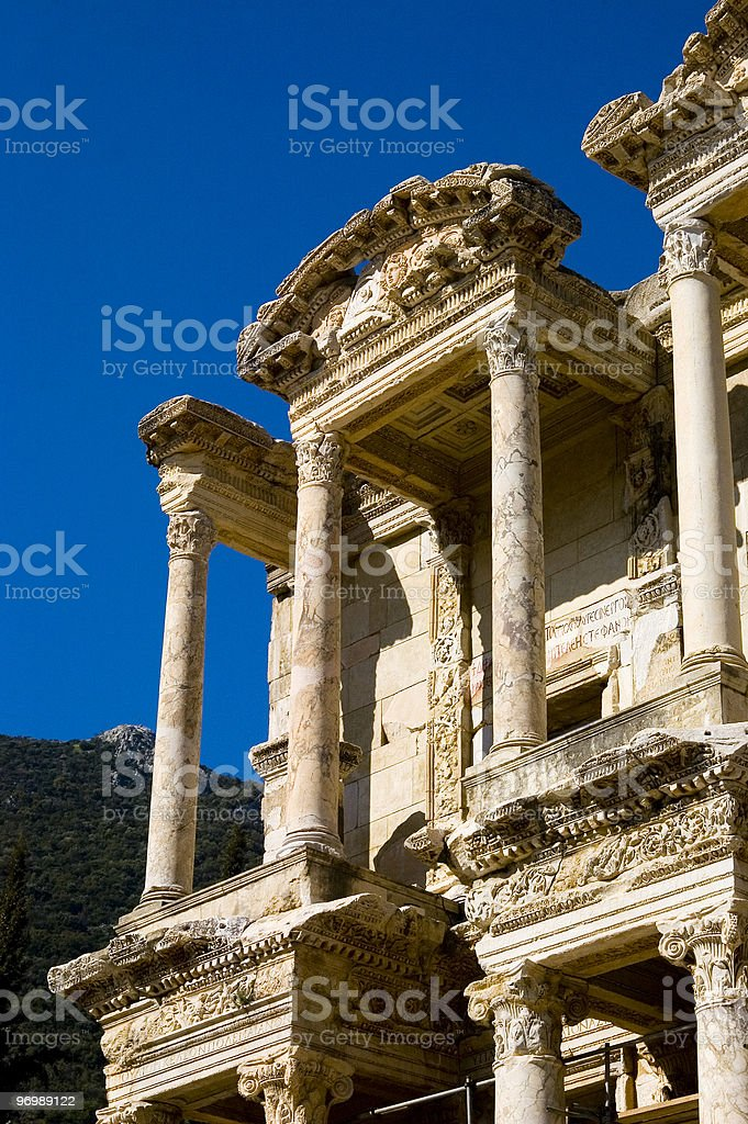 Celsius Library in Ephesus 5 royalty-free stock photo