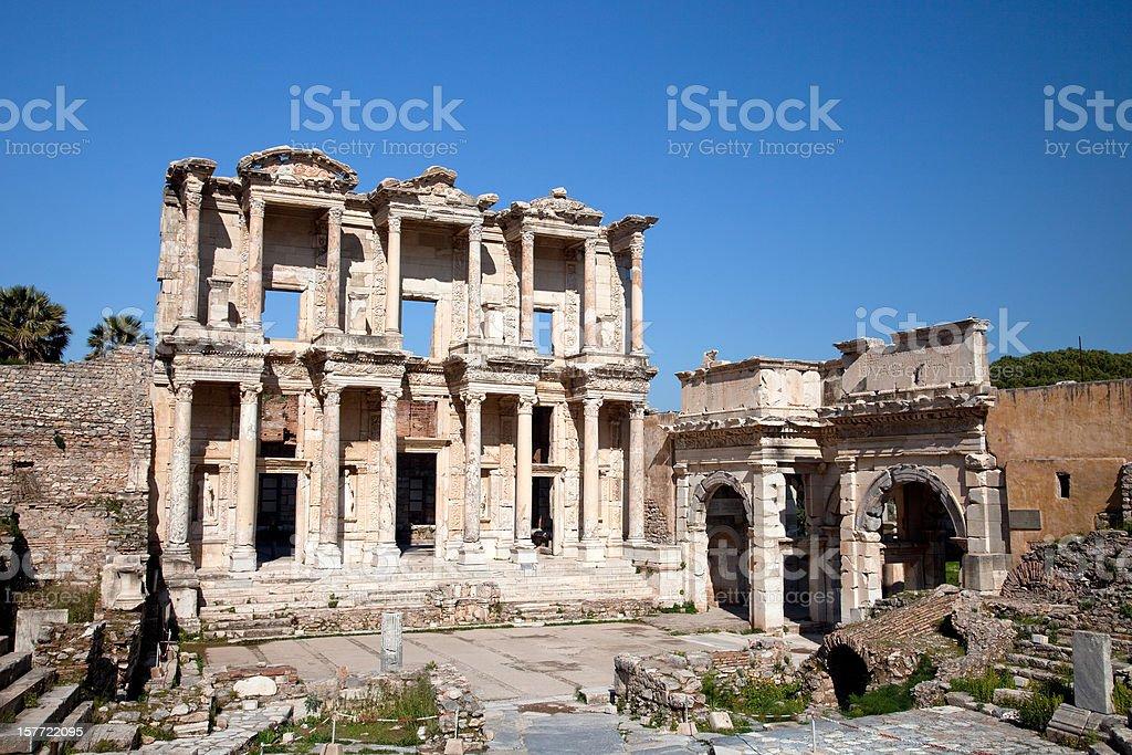 Celsus Library Ephesus royalty-free stock photo