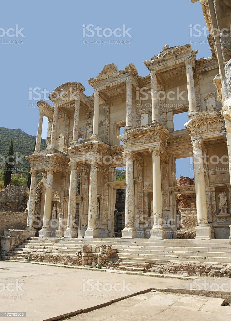 Celsus Library, Ephesus, Turkey stock photo
