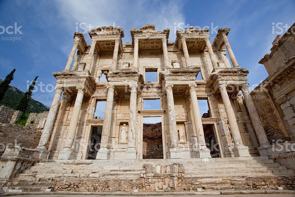 Celsus library royalty-free stock photo