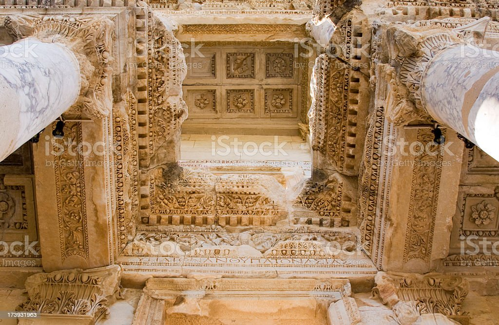 Celsus Library stock photo